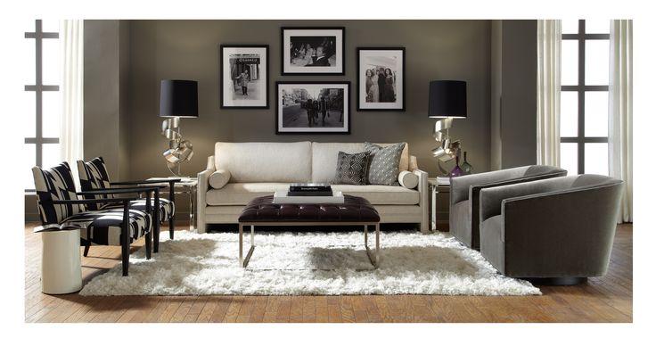 Mitchell Gold Bob Williams Carlisle 90 Sofa Benton Sandstone In Our Lr Living Room