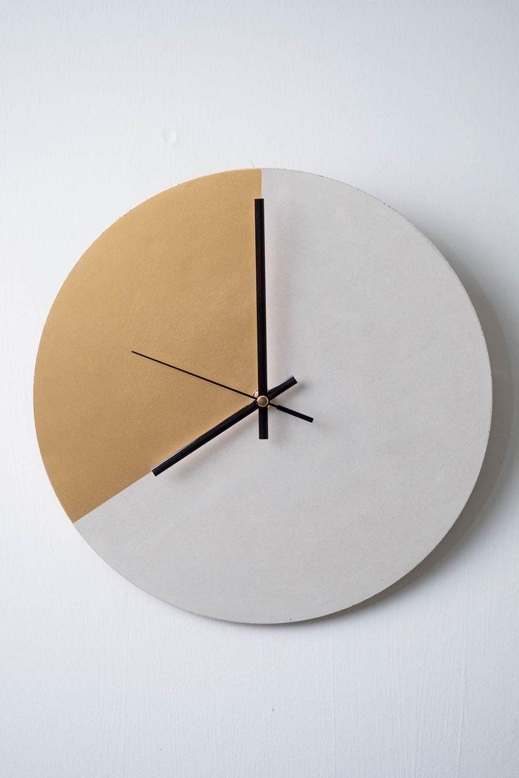 26 best concrete wall clocks images on pinterest concrete design concrete and gold wall clock amipublicfo Choice Image
