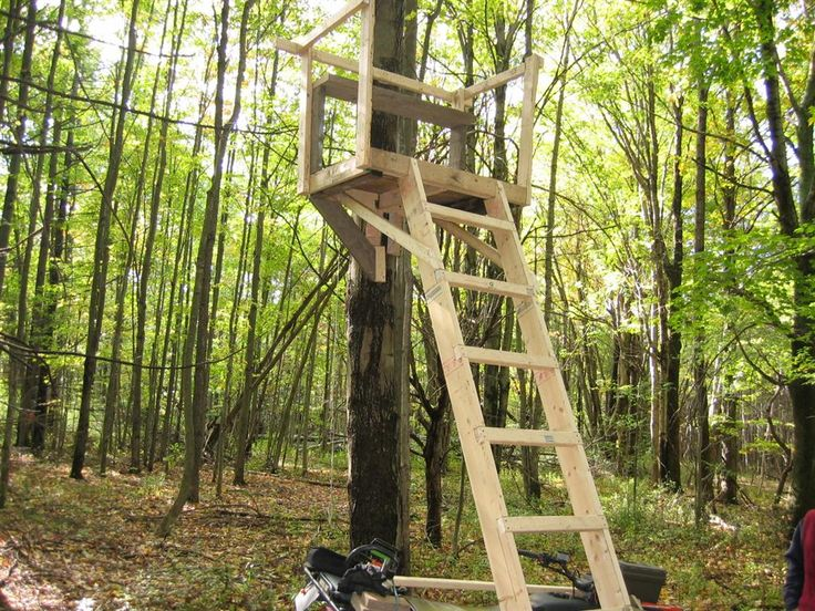 11 best hunting images on pinterest tree stands deer for Deer stand made from pallets