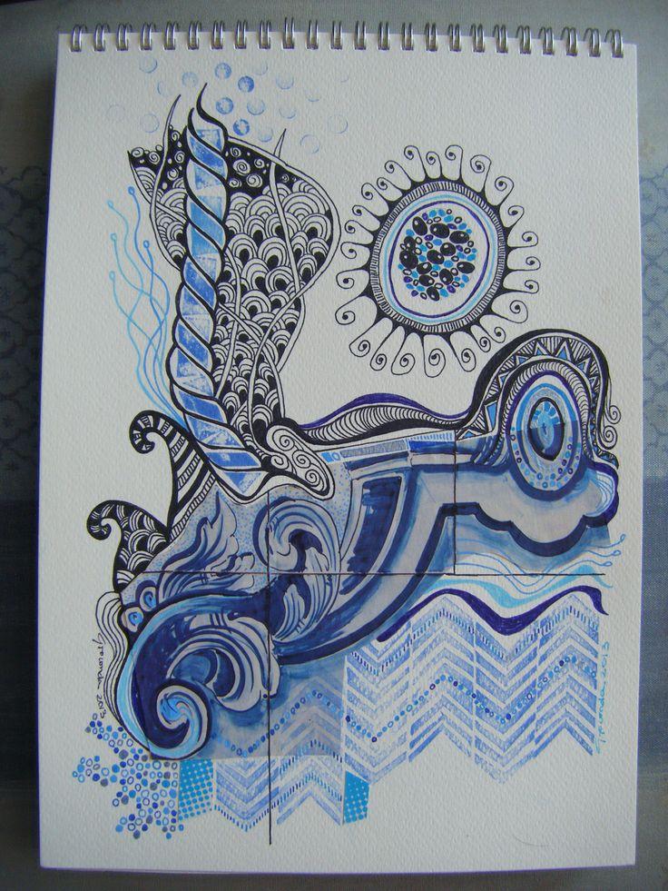 Desenho/colagem