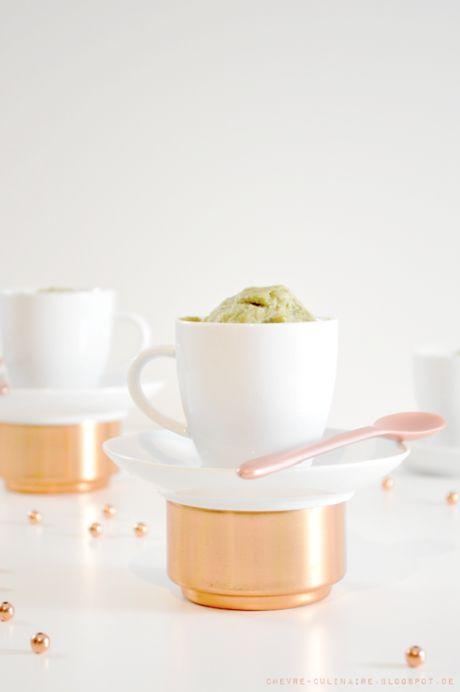 Chèvre culinaire: Matcha Mug Cake // Blitzküchlein in der Tasse