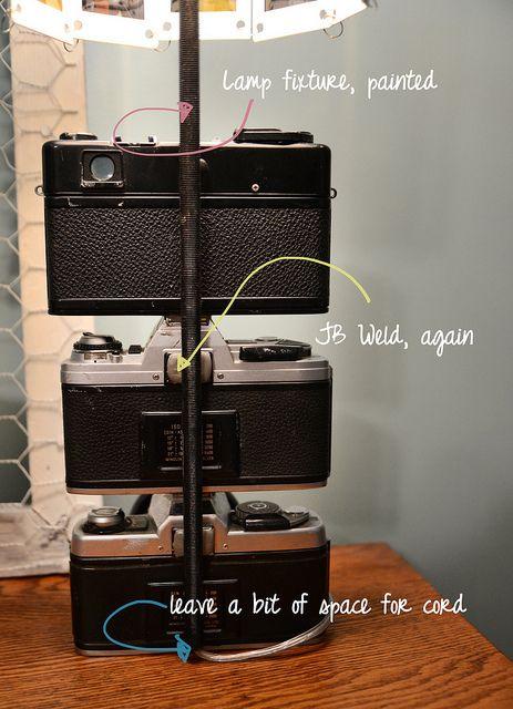 pingl par maryse labb sur luminaires objets detournes. Black Bedroom Furniture Sets. Home Design Ideas