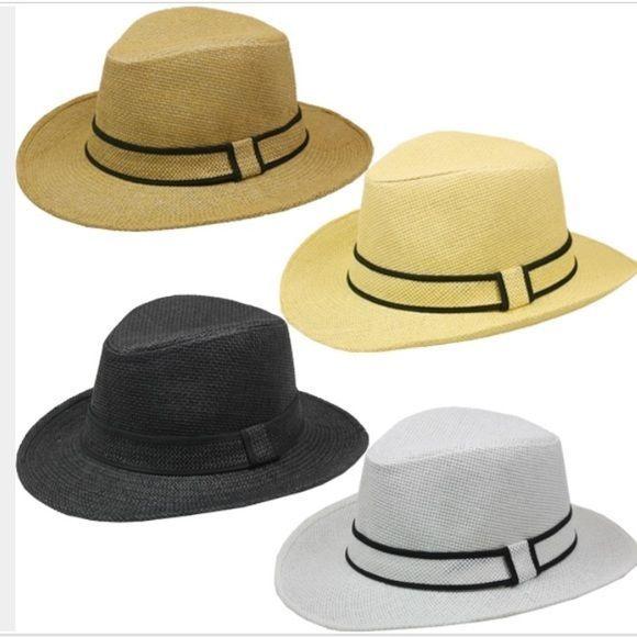 FREE GIFT! BEACH POPULAR Wide Brim Fedora Summer Hat Men Fedora FASHION WOMEN #MACKJEWELRY #FedoraTrilby