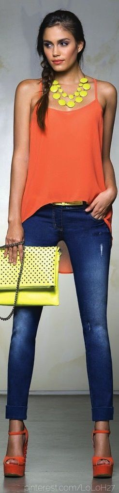 Spring / summer - street & chic style - neon outfit