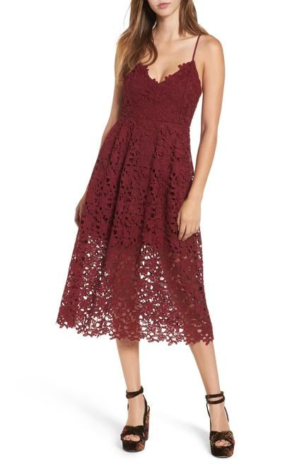 8815b6ac6309 10 Winter Wedding Guest Dresses | Lows to Luxe Style | Lace midi ...