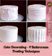 Buttercream Cake Decorating Techniques : Party Recipes Cakes, Icing techniques and Birds