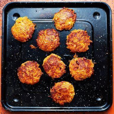 Recept: Morots- och halloumibiffar