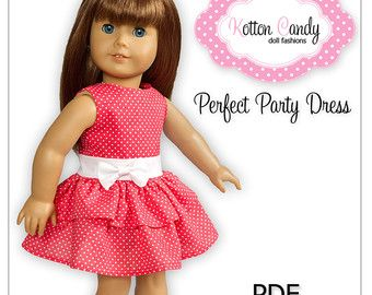 Great Value! Buy any 3 Kotton Candy PDF Sewing Patterns for $14! Please add ONLY this listing to your shopping cart when checking out and include a note in the note to seller section to let me know which 3 patterns you would like :)  Kotton Candy Sewing Patterns are meant to fit 18 dolls such as American Girl, Our Generation or Madame Alexander.  *NOTE* This listing is for 3 sewing patterns in PDF format - not the finished products!  Immediate download is NOT available when purchasing…