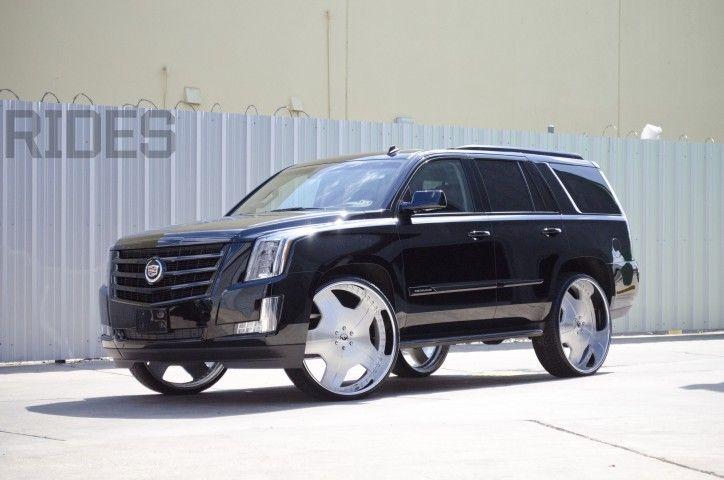 2015 Escalade For Sale >> 2015 Cadillac Escalade On 30-Inch Forgiato Wheels - Rides Magazine | ESCALADES | Pinterest ...