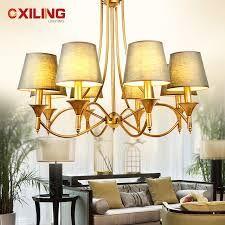 lampadario ottone con paralume classico design