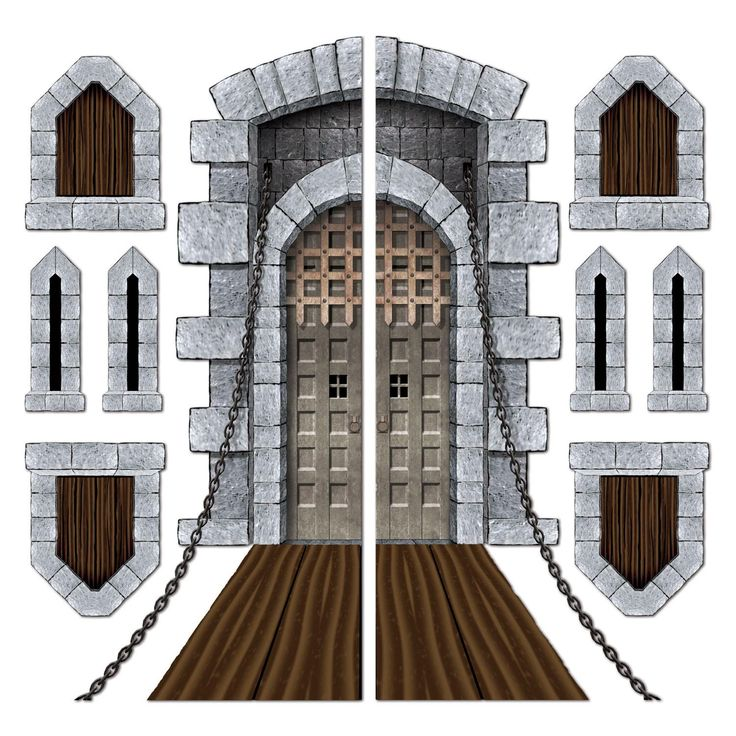 "These Castle Door & Window Props are Super Cool and Realistic! Get yours Now at this Unbeatable Price! Insta-theme. Size: 16""-5' 9.5""; You get 12 Packages for this price."