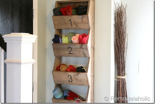 Wall Storage Bins tutorial. Gotta have one!