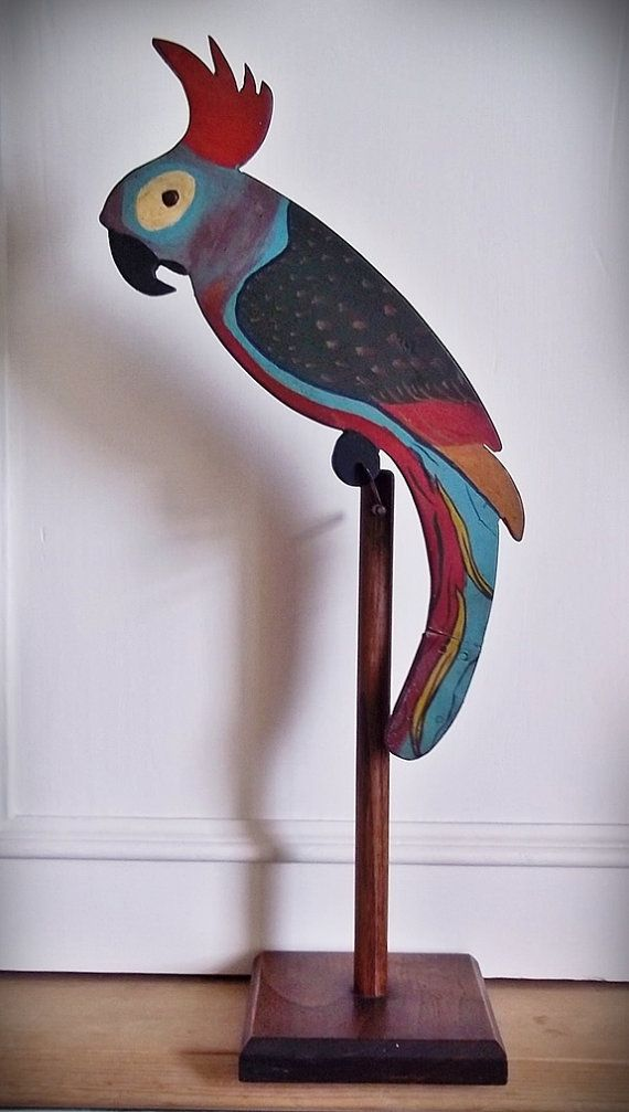 Balancing Toy Rare Large Hand Painted Wood by ...