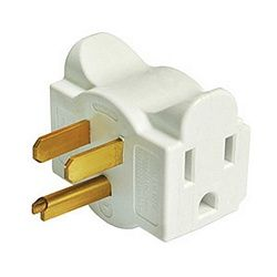 Behind the Couch Outlet: An outlet with plugs that come out the side. Brilliant.