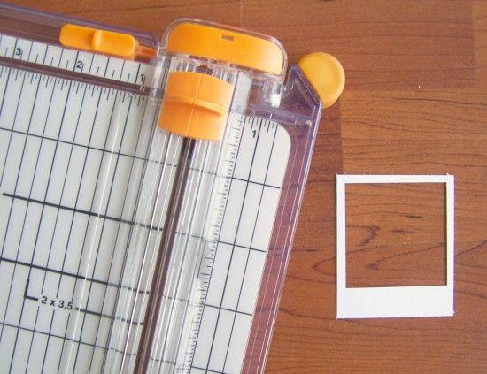 tutorial for making mini polaroid frames