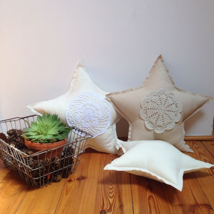 #pillows #stars #crochet #kids #kidsroom