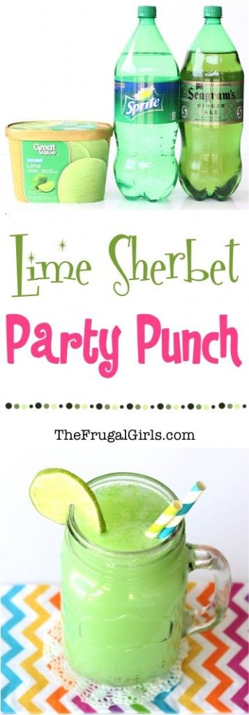 Lime Sherbet Party Punch Recipe from TheFrugalGirls.com  Woo Hoo my party drink from the 70's lol