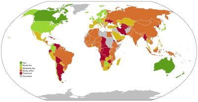 """This article contains a list of freedom indices produced by several non-governmental organizations that publish and maintain assessments of the state of freedom in the world, according to their own various definitions of the term, and rank countries as being free, partly free, or unfree using various measures of freedom, including political rights, economic rights, and civil liberties."""