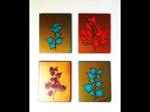 M s de 1000 ideas sobre flores con pintura en aerosol en for Ideas para pintar cuadros