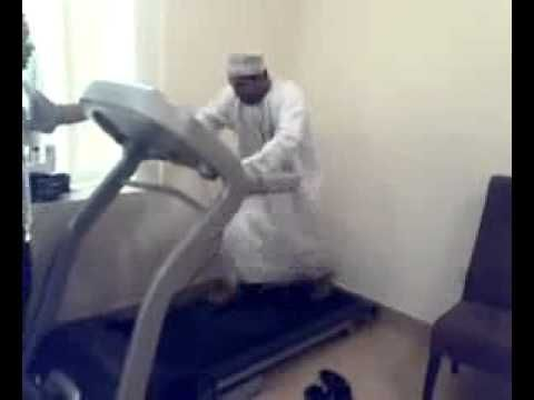 Arab on Treadmill  Most Funny Comedy Video Clips for laughs !!