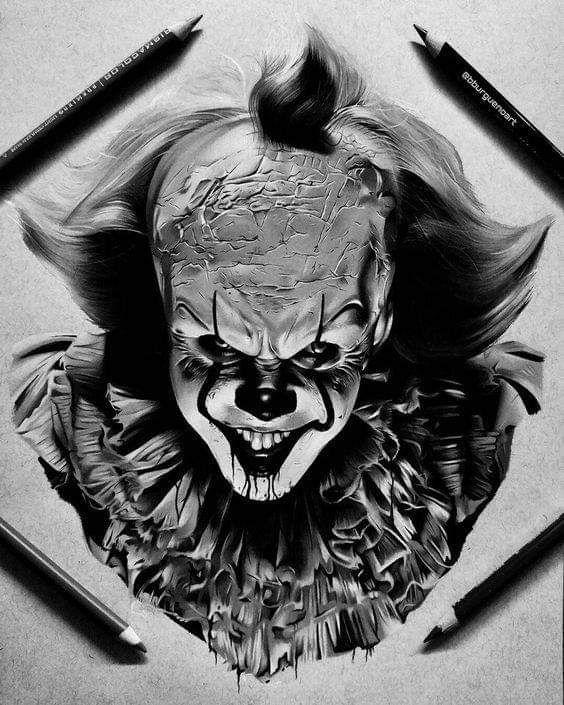 Tom Barker.tattoo_wien #tattoo inspiration #portrait tattoo inspiration #clown tattoo inspiration #clown head tattoo inspiration #es tattoo inspiratio …