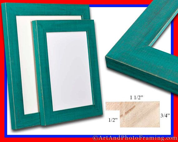 rustic teal picture frame aqua green decor reclaimed distressed barn wood photo custom 5x7 8x8 8x10 11x14 13x19 16x20 8 x 10 11 12 14 16 20