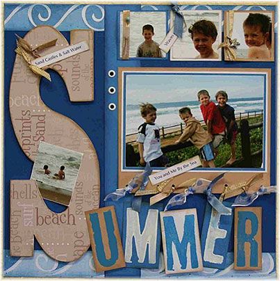 """SUMMER. I have the paper she used to make the """"S"""". Cool idea."""