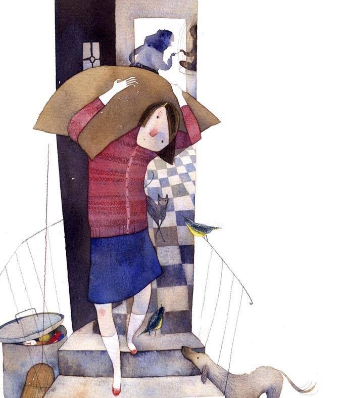 """Isabel Hojas illustration for """"Hansel and Gretel""""."""
