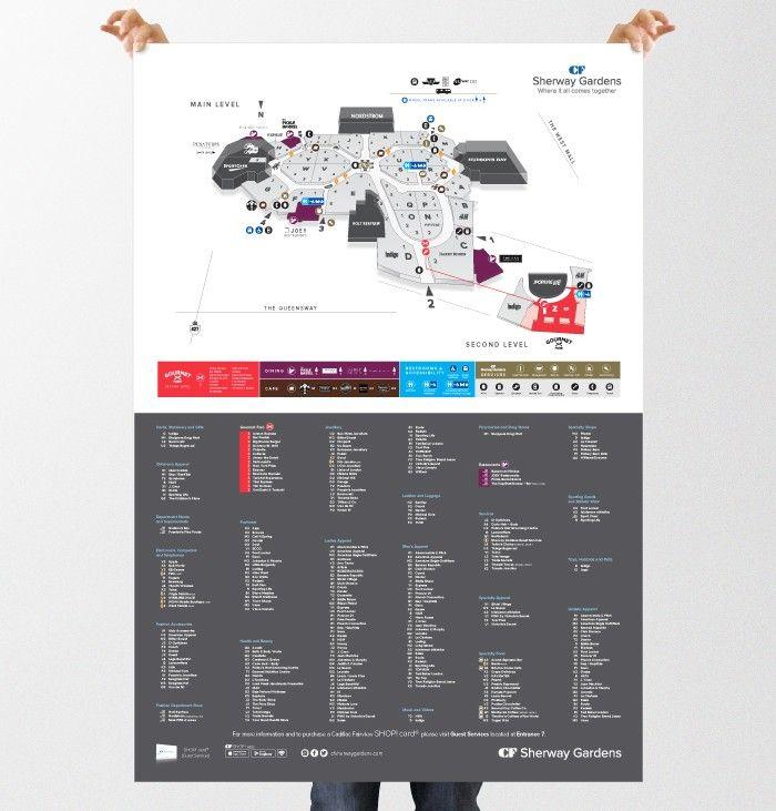 CF Sherway Gardens Map Illustration
