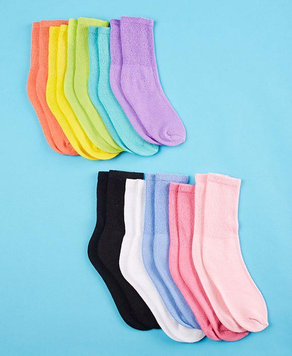 10-Pair Diabetic Sock Cushioned Sole, Non Irritating Toe Seams: WOMEN'S COLOR #TheBigDiscount #Diabetic
