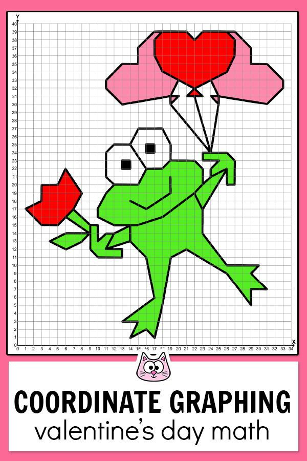 Valentine's Day Math Coordinate Graphing Ordered Pairs ...