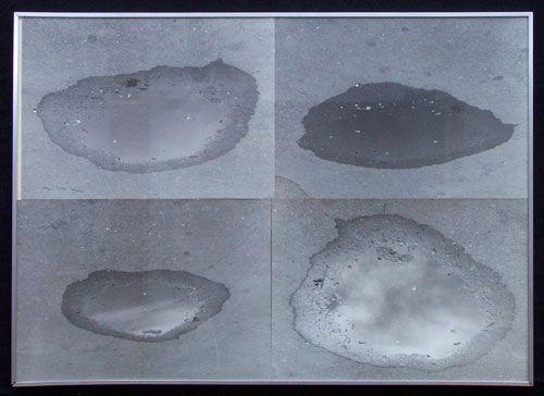 """Klaus Rinke: """"WASSERLAKE'' Four photographs mounted on mat board"""