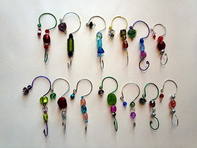 Bead and Wire Ornament hangers by karjor - Cards and Paper Crafts at Splitcoaststampers