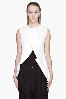 COMME DES GARÇONS Off-white padded and paneled Vest