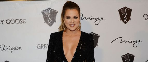 Khloe Kardashian Dons Low-Cut Sequined Dress With Daring Slit