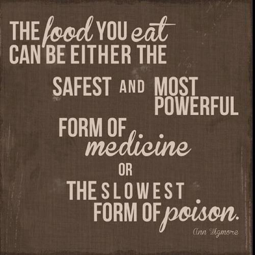 Powerful medicine or slowest poison// Via Food Inc