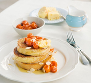 French Toast with Honey Cumquats