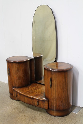 Art Deco Walnut Dressing Table   eBay