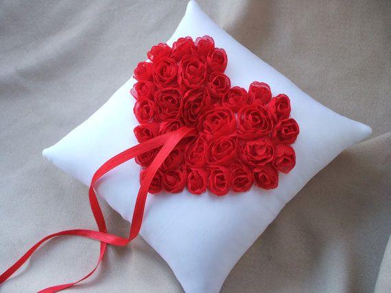 Ring Bearer Pillow Red Heart