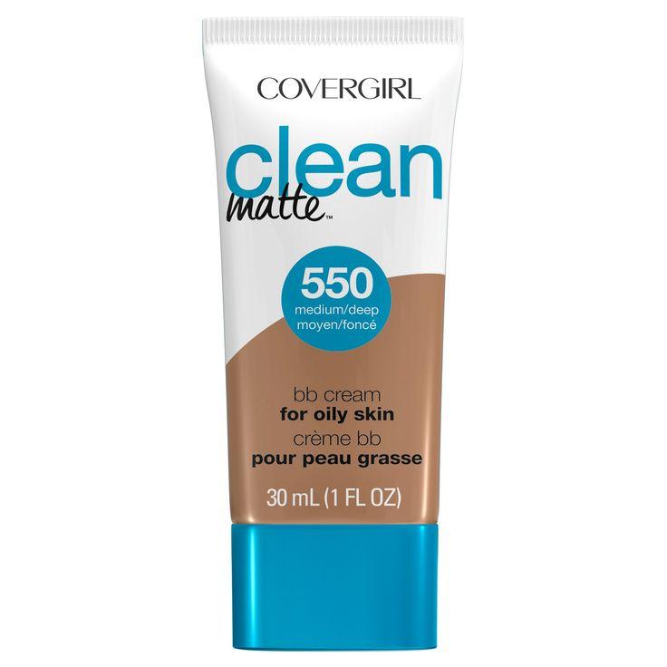 Covergirl Clean Matte BB Cream 550 Medium/Deep 1Fl Oz, 550 Medium Deep
