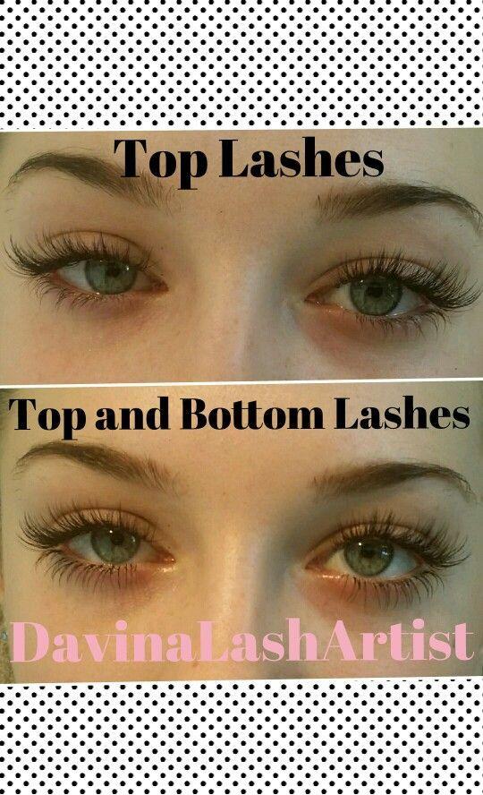Top And Bottom Eyelash Extensions Eyelashextensions Nail