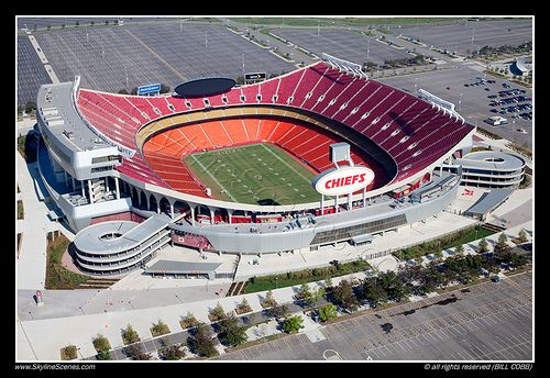 Arrowhead Stadium. Home of the Kansas City Chiefs.
