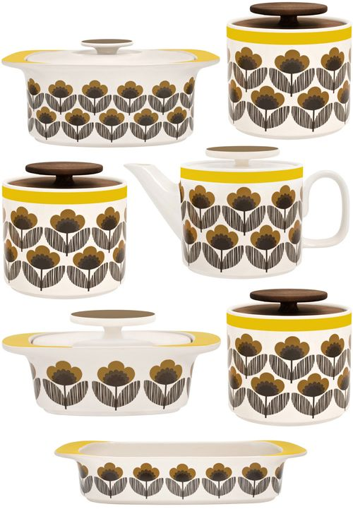 And JUST when I thought I was maaaaybe having Orla Kiely overload. Damn her! This Poppy Meadow kitchen collection is sweeeet. The lasagna dish?? Lerve.