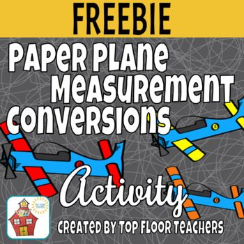 Here is a fun FREE activity that will help your students master distance measurement conversions.  Have your students come up with a paper airplane design. Then it is time to get outside and test out their prototypes! Using measuring tape, yard sticks, or meter sticks, partners will measure how far each of their planes traveled.