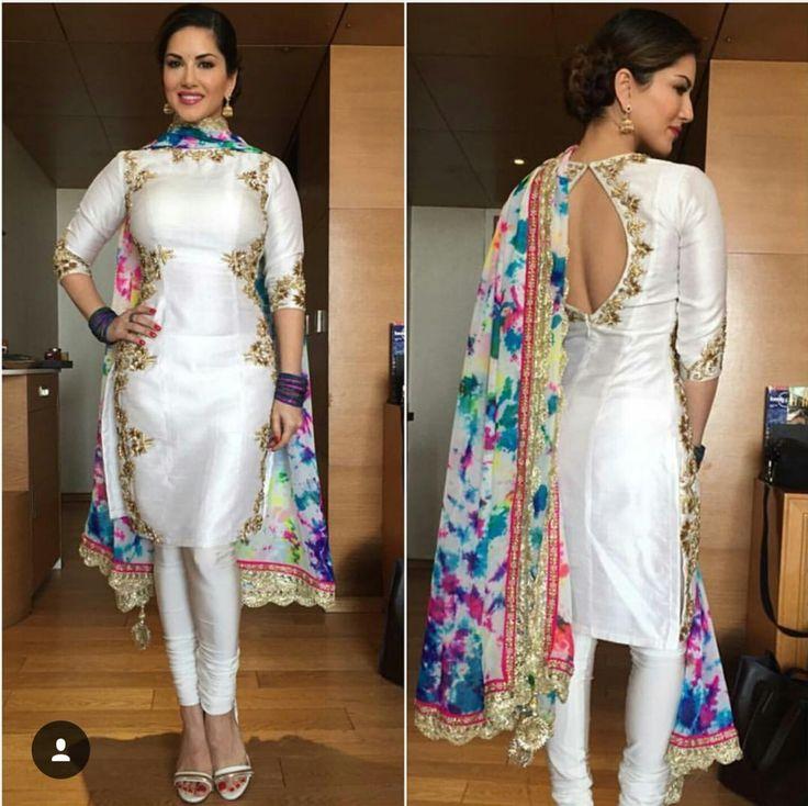 Spring white Punjabi suit
