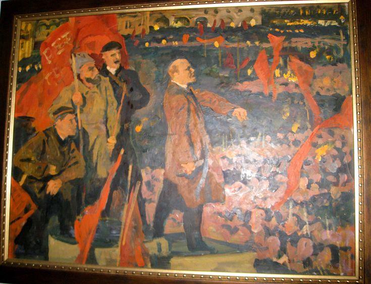 федосов никита петрович, купить советскую живопись, продажа картин федосова,купить картину федосова, ленин, революция, октябрьская революция