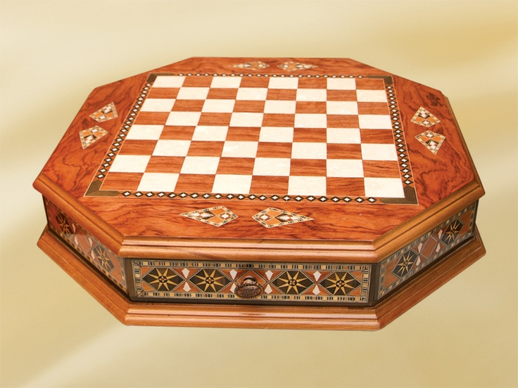 Helena wood art wooden chess board we have a beautiful previously owned chess board similar to - Coolest chess boards ...