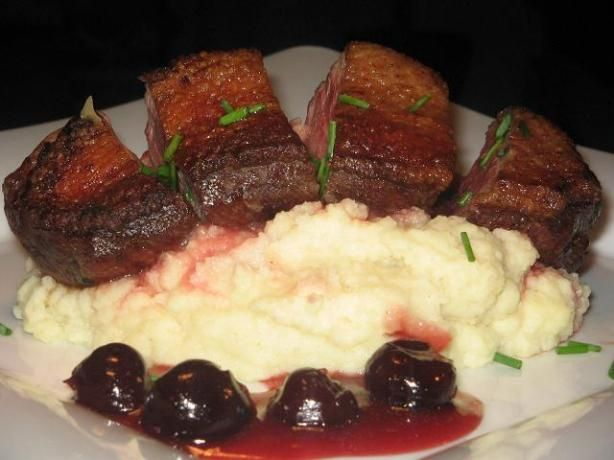 Chicken With Sour Cherry Sauce