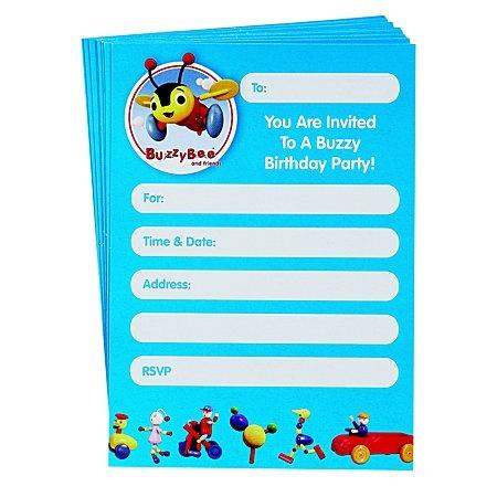 Buzzy Bee Party Invites