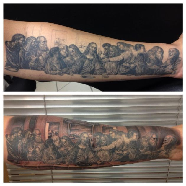 Jesus Tattoo (The Last Supper) - Best Tattoos Ever - Tattoo by Andy Engel - 10